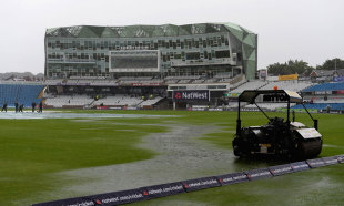 Pools of water collected on the outfield, England v Australia, 1st NatWest ODI, September 6, 2013