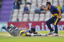 Dean Cosker completed the run-out of Neil McKenzie, Hampshire v Glamorgan, YB40 semi-final, Ageas Bowl, September 7, 2013