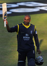 Dimitri Mascarenhas bade farewell to the crowd on his final appearance, Hampshire v Glamorgan, YB40 semi-final, Ageas Bowl, September 7, 2013