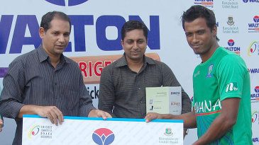 Rubel Hossain won the Man-of-the-Match award for his 6 for 18