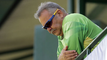 Dav Whatmore at the visitors' dressing room