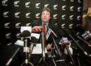 Martin Snedden, New Zealand Cricket's chief executive, addresses the media, Christchurch, July 1, 2005