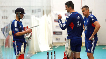 Kevin Pietersen and Eoin Morgan discuss their batting with Ashley Giles