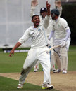 Moneeb Iqbal appeals for a wicket, Ireland v Scotland, ICC Intercontinental Cup, 3rd day, Dublin, September 13, 2013