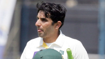Misbah-ul-Haq was left unbeaten on 79