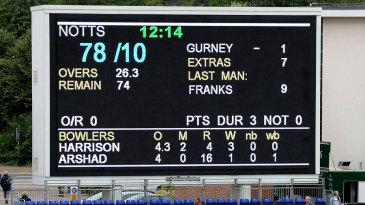 Paul Franks was Nottinghamshire's last man out