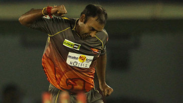Amit Mishra exults after dismissing Ali Waqas