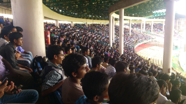 The third India A one-day game at the Chinnaswamy Stadium had a huge turnout