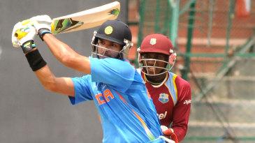 Yuvraj Singh hits through the leg side