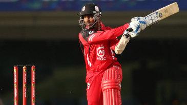 Denesh Ramdin plays a shot through the off side