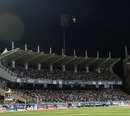 The match was halted for a bit when one of the floodlight towers malfunctioned, Brisbane Heat v Trinidad & Tobago, Champions League 2013, Group B, Ranchi, September 22, 2013