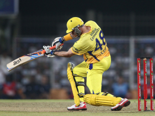 Michael Hussey set up Super Kings' chase, Chennai Super Kings v Titans, Champions League 2013, Group B, Ranchi, September 22, 2013