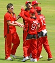 Kieran Geyle took figures of 3 for 32, India Under-19s v Zimbabwe Under-19s, Visakhapatnam, Sep 23, 2013