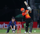 Hilton Cartwright attacks the off side, Otago Volts v Perth Scorchers, Group A, Champions League 2013, Jaipur, September 25, 2013