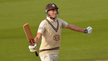 Young gun: Dominic Sibley completes his double hundred