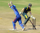 Damien Mortimer was stumped by Ankush Bains, India Under-19s v Australia Under-19s, Quadrangular Under-19 Series, Visakhapatnam, Sep 27, 2013