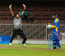 Ahmed Raza picked up three wickets for just 13 runs, United Arab Emirates v Namibia, ICC World Cricket League Championship, Sharjah, September 27, 2013