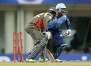 Titans' wicketkeeper Mangaliso Mosehle appeals after stumping Biplab Samantray, Titans v Sunrisers Hyderabad, Champions League 2013, Group B, Ranchi, September 28, 2013
