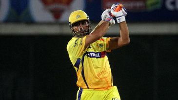 MS Dhoni hit a six to signal victory