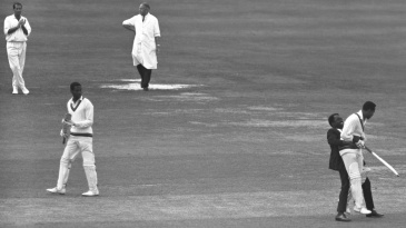 A spectator can't contain his admiration for Sobers during his unbeaten 163 at Lord's