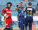 Nick Beard picked up two wickets in two balls, Lions v Otago, Group A, Champions League 2013, Jaipur, September 29, 2013