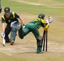Tom Andrews was stumped for 16, Australia Under-19s v South Africa Under-19s, Visakhapatnam, September 29, 2013