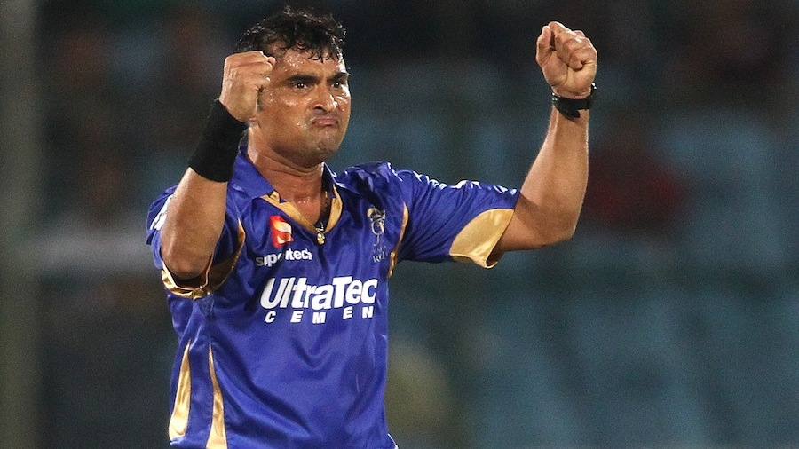 Pravin Tambe took two wickets for 17 runs
