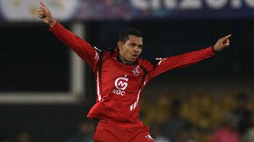 Sunil Narine celebrates a wicket