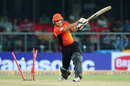 Tom Triffitt's stumps were castled by Rishi Dhawan, Mumbai Indians v Perth Scorchers, Champions League 2013, Group A, Delhi, October 2, 2013