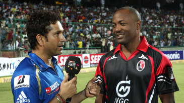 Sachin Tendulkar and Brian Lara were interviewed after the game
