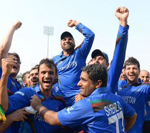 Afghanistan qualified for the 2015 World Cup after crushing Kenya in a World Cricket League Championship game in Sharjah