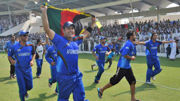 Afghanistan take a lap of honour