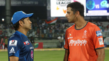 Sachin Tendulkar and Rahul Dravid were interviewed before the game