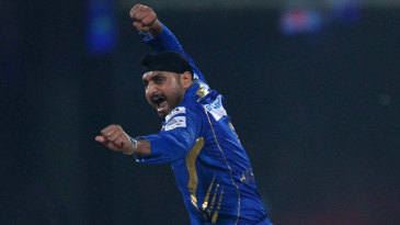 Harbhajan Singh took three wickets in an over