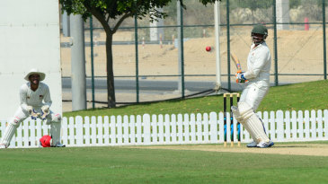 Kenya's No. 10 batsman Hiren Varaiya scored a stubborn 35