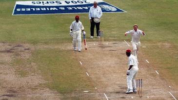 Andrew Flintoff's catch of Ryan Hinds gave Matthew Hoggard his hat-trick wicket