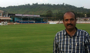 Shivanand Gunjal at the KSCA Stadium in Hubli that he helped put together, Hubli, October 7, 2013