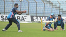 Corey Richards puts Mahmudullah through slips practice, Chittagong, October 8, 2013