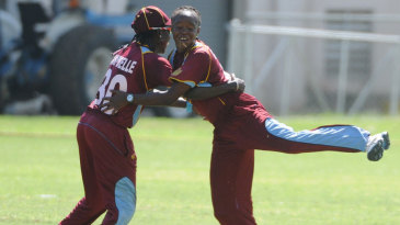 Shaquana Quintyne took two wickets and led a 43-run stand for the ninth wicket