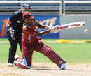 Shakera Selman sweeps the ball, West Indies v New Zealand, 2nd Women's ODI, Kingston, October 8, 2013