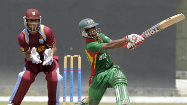 Mosaddek Hossain hits out during his match-winning innings of 70