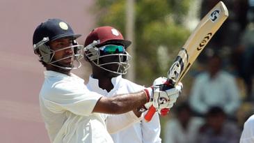 Cheteshwar Pujara pulls on his way to a triple-hundred