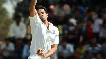 Zaheer Khan bowls against West Indies A