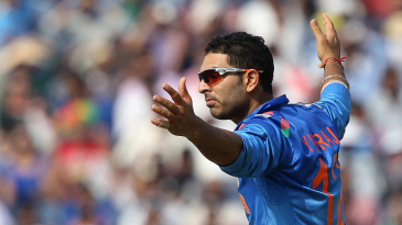 Yuvraj Singh accounted for Shane Watson with his first delivery
