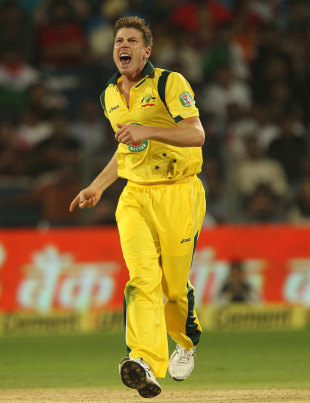 James Faulkner gave away only nine runs in his three batting Powerplay overs
