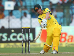 George Bailey scored 40 of his 92 runs in the last five overs, India v Australia, 2nd ODI, Jaipur, October 16, 2013