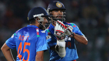 Rohit Sharma and Shikhar Dhawan shared a solid opening stand