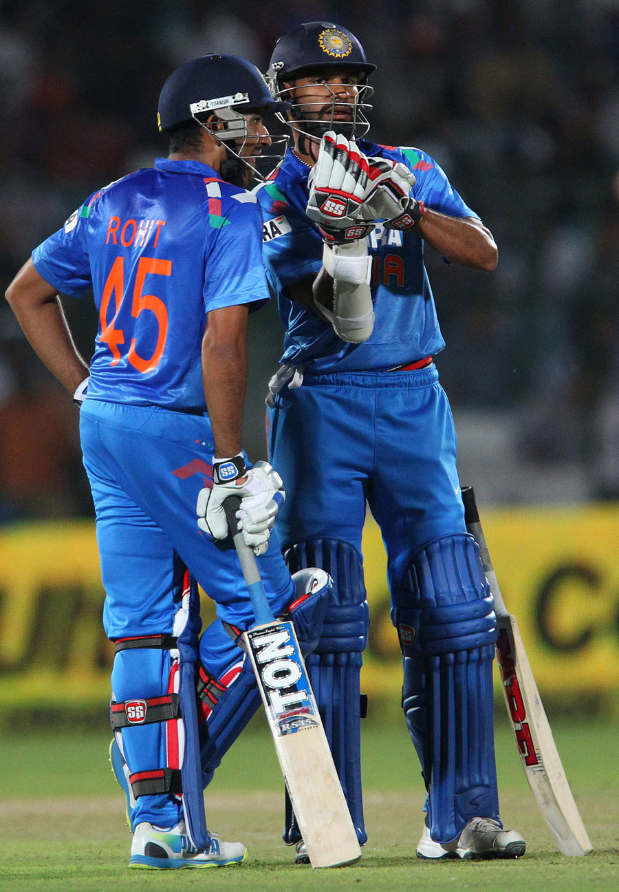 Rohit Sharma and Shikhar Dhawan shared a solid opening ...