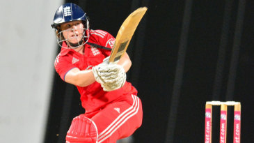 Tammy Beaumont works one to the leg side