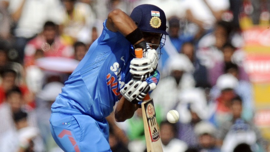 Suresh Raina was peppered with short deliveries